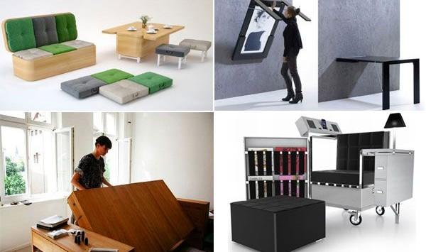 furniture, Furniture-Furniture Yang Dapat Berubah Bentuk Untuk Apartemen Kecil