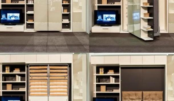transformasi furniture unik untuk ruangan yang sempit