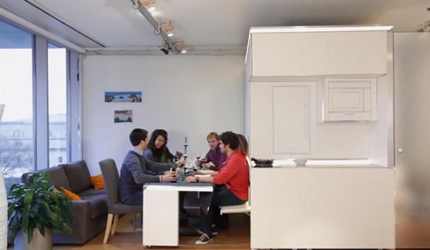 furniture canggih, Satu Furniture Canggih Untuk Apartemen Yang Sempit