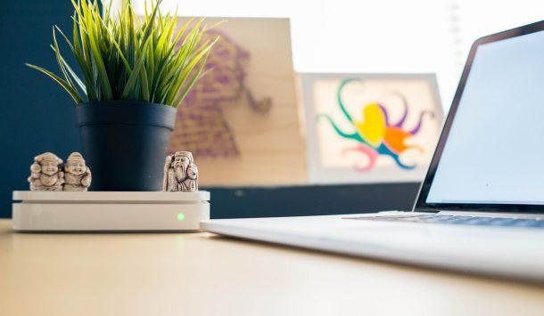 hiasi meja kantor dengan tanaman