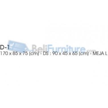 Indachi Clasic Meja Kantor L 170 cm -