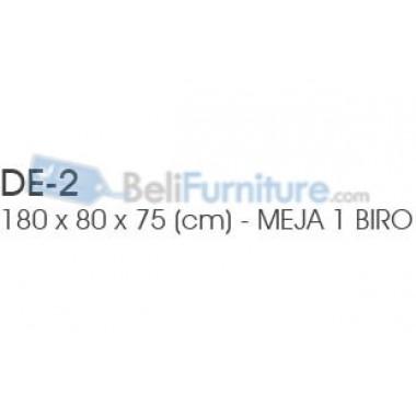 Indachi Exclusive Meja Kantor 1 Biro 180 cm -