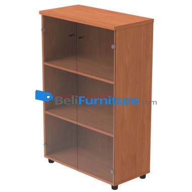 Grand Furniture DVL 8040 MCGD (Kabinet Medium Pintu Kaca) -