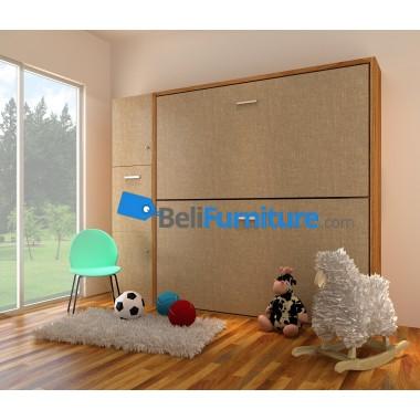 Futurnitur Double Deck Bed  (type c)  Dimension W264.1 x L(open)134.2 x H218.3 x T40 -