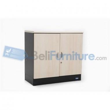 Uno Platinum Lemari Arsip 2 Rak+Pintu Panel + Afron Tinggi 75 cm -