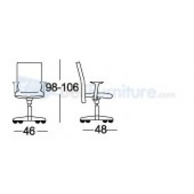 Kursi Staff/Manager Chairman MC-1503 B -