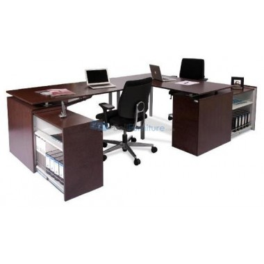 Datascrip Twin Desk Configuration -