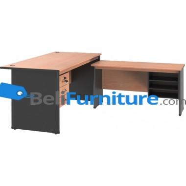 Grand Furniture NB 504 S (Meja 1 Biro+ Kotak Laci + Meja Samping + Kotak Rak) -