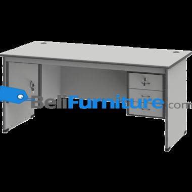 Grand Furniture ND 503 S (Meja 1 Biro Super + Kotak Laci + Kotak Pintu) -