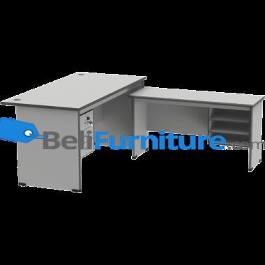 Grand Furniture ND 504 S (Meja 1 Biro + Kotak Laci + Meja Samping + Kotak Rak) -