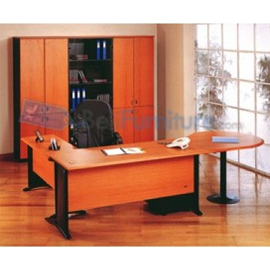 Uno Platinum Lemari Arsip 3 Rak+Pintu Kaca+Afron Tinggi 132 cm -