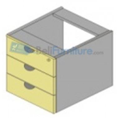 Uno Platinum Laci Gantung 3 Drawer (Central Lock) -