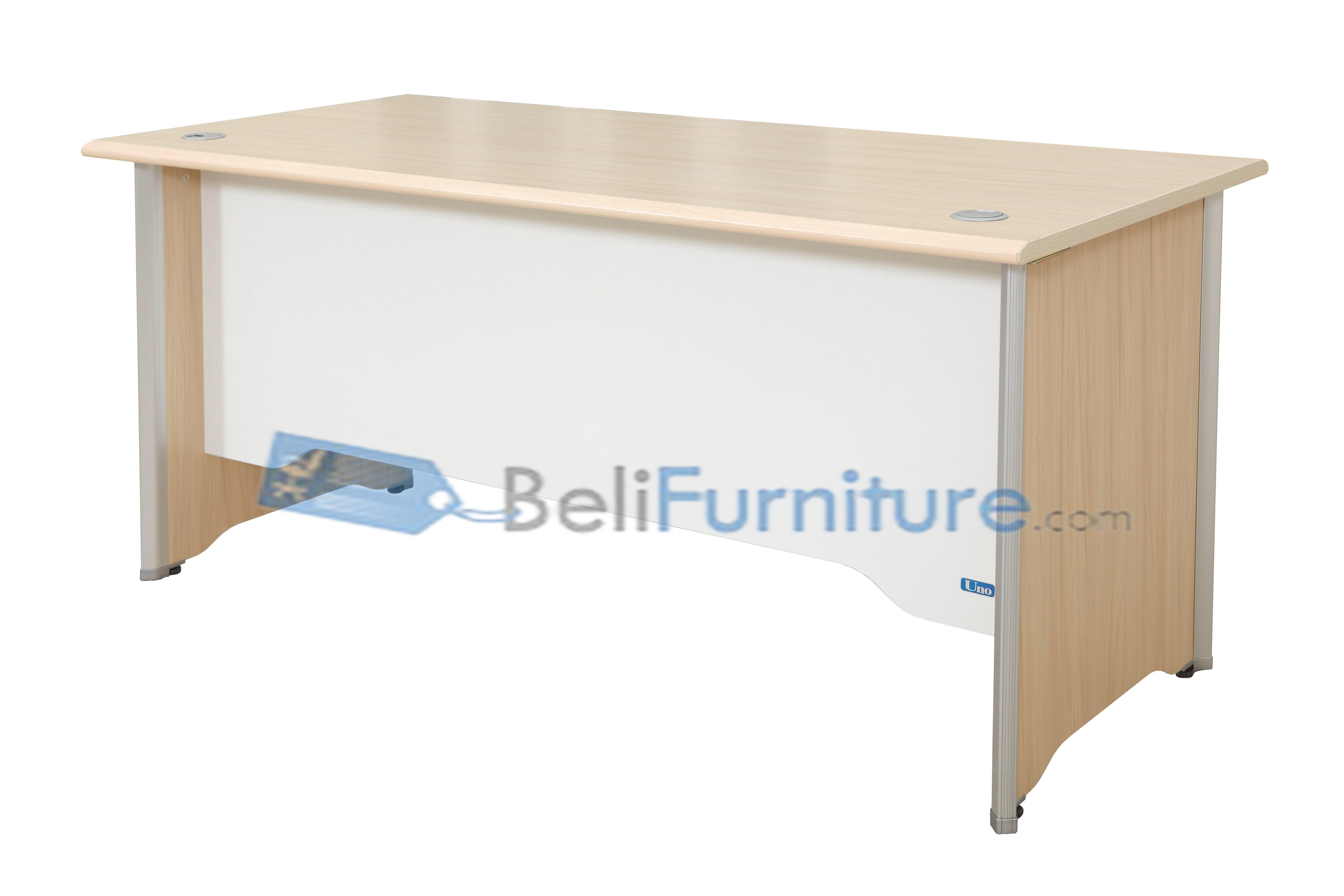 Uno modern series uod 7064 140 cm meja kantor murah for Sofa bed yang bagus merk apa