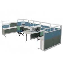 Partisi Kantor Indachi Configuration dua Staff