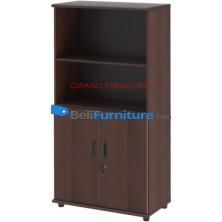 Grand Furniture DC HB 5 (kabinet 4 Rak + Pintu Kayu Rendah)