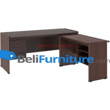 Grand Furniture DC MT 504 S (Meja 1 Biro + Kotak Laci + Meja Samping + Kotak Rak)