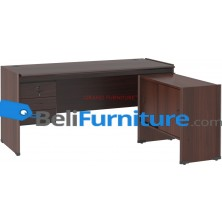 Grand Furniture DC MT 505 (Meja 1 Biro + Kotak Laci + Kabinet samping Sliding)