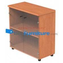 Grand Furniture DVL 8040 LCGD (Kabinet Rendah Pintu Kaca)