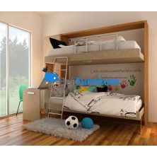 Futurnitur Double Deck Bed  (type c)  Dimension W264.1 x L(open)134.2 x H218.3 x T40