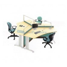 Partisi Kantor Ichiko Configuration Tiga Staff
