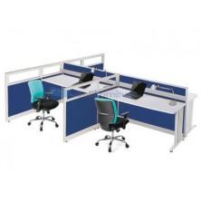 Partisi Kantor Indachi Configuration Empat Staff