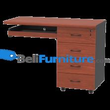 Grand Furniture LX 1050 RTK (Meja Samping 100 + Laci Kunci Sentral + Keyboard Tray)