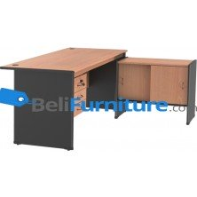 Grand Furniture NB 505 (Meja 1 Biro+ Kotak Laci + Kabinet Samping Sliding)