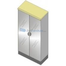 Uno Platinum Lemari Arsip 3 Rak+Pintu Kaca+Afron Tinggi 132 cm