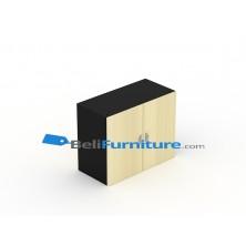 Uno Platinum Lemari Arsip 2 Rak Tinggi 62 cm Pintu Panel