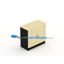Uno Platinum Lemari Arsip 2 Rak+Pintu Panel + Afron Tinggi 75 cm