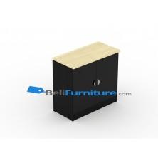 Uno Platinum Lemari Asrip 2 Rak+Pintu Kaca+Afron Tinggi 75 cm
