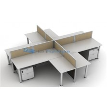 Meja Kantor Top Workstation 150W (4 pax)