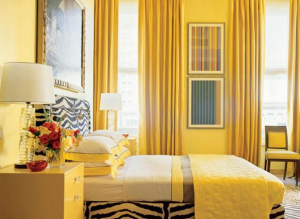 ruang kamar warna kuning