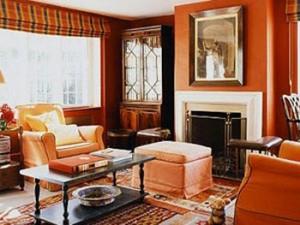 ruang keluarga orange
